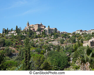 View of the city of Valldemossa