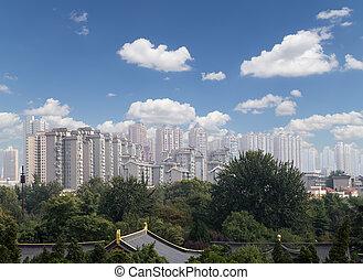 View of the city of Xian (Sian, Xi'an), Shaanxi province, China