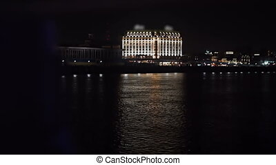 View of the city's waterfront at night