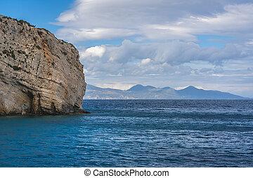View of the Cliffs near Skinari Cape