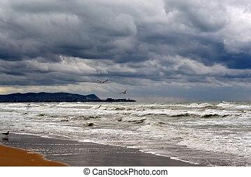 View of the coast of Anapa from Vityazevo