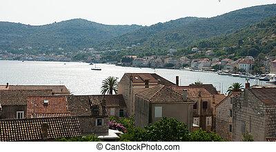 View of the coastal village