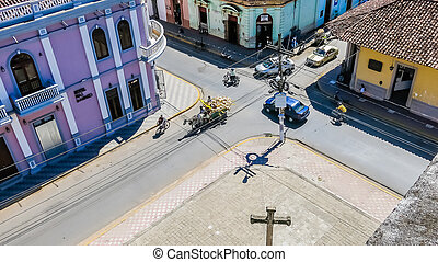 City view of Granada Nicaragua. Granada was founded in 1524 and it's the first European city in mainland America.