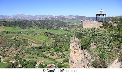 View of the countryside from Ronda