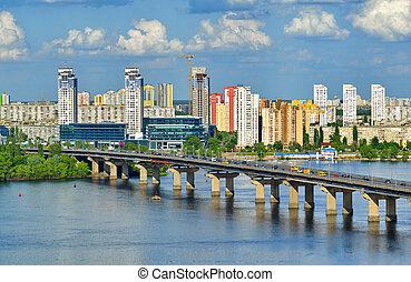 View of the Dnieper river in Kiev