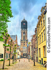 View of the Dom Tower of Utrecht, the Netherlands - View of...