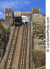 View of the East Hill Railway Lifts in Hastings