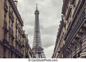 View of the Eiffel Tower in Paris, France - View from a...