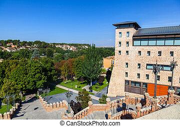 View of the Escalinata in Teruel, Spain