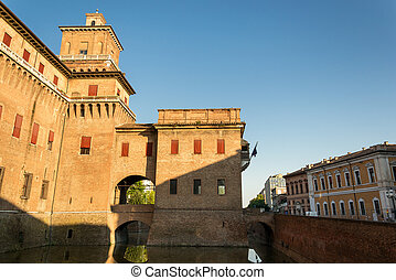 View of the Estensi's Castle in Ferrara