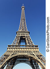 view of the famous Eiffel tower