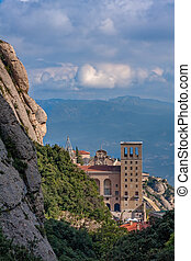 View of the famous monastery of Montserrat in Catalonia of Spain