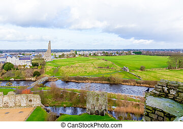 View of the famous ruins at Trim Castle