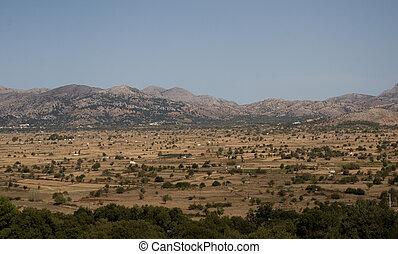 Lassithi Plateau in Crete, Greece.
