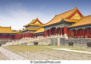 View of the Forbidden City, Beijing, China