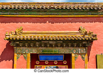 View of the Forbidden City in Beijing