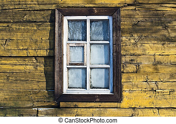 View of the frozen window