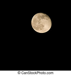 View of the full moon