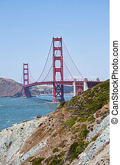 view of the golden gate bridge in San Francisco, California