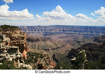 Walhalla overlook - view of the Grand Canyon National Park...