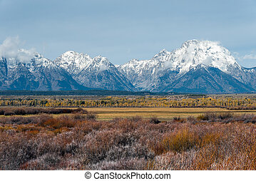 View of the Grand Teton Mountain Range