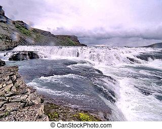 View of the Gullfoss waterfall