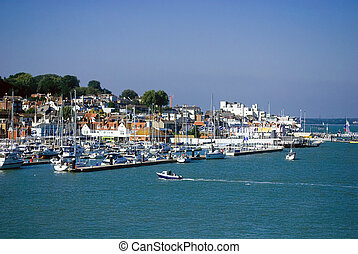 View of the Harbour at Cowes, Isle of wight