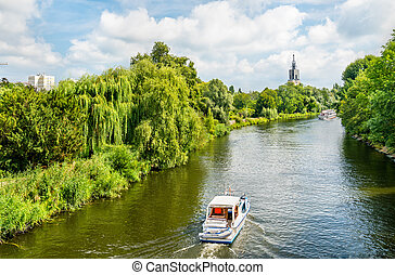 View of the Havel river in Potsdam, Germany