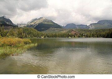 View of the High Tatras-Štrbské Pleso village National park in Slovakia