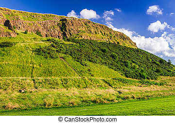 View of the hill in Scotland