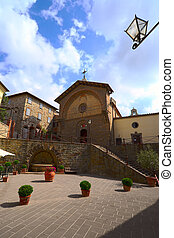 Medieval Town - View of the Historic Center of a Typical ...