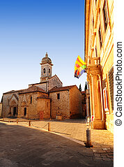 Medieval Town - View Of The Historic Center Of Typical ...