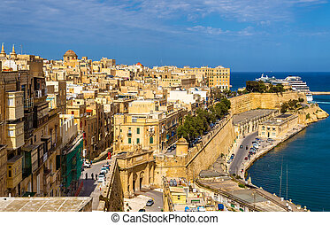 View of the historic centre of Valletta - Malta