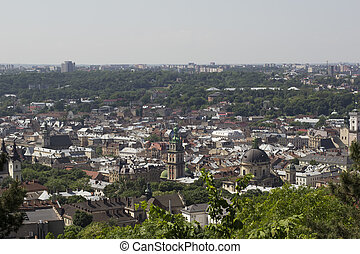 view of the historical part of Lviv
