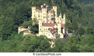 View of the Hohenschwangau Castle, in Bavaria, Germany.