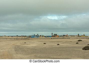 View of the holiday resort Wlotzkasbaken in the north of Swakopmund, Namibia