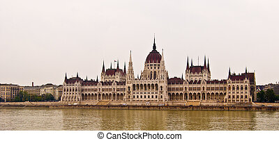 view of the Hungarian Parliament in Budapest