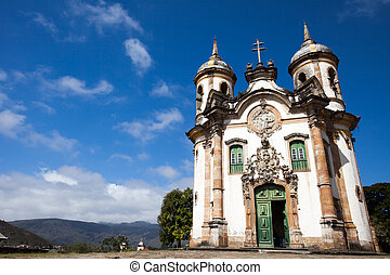 View of the Igreja de Sao Francisco de Assis of the unesco...