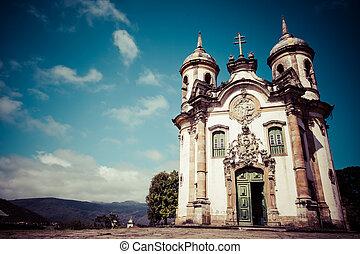 View of the Igreja de Sao Francisco de Assis of the unesco...