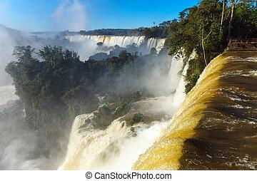 View of the Iguazu falls