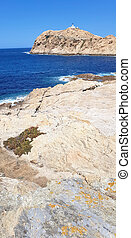 View of the Ile Rousse in Corsica, France