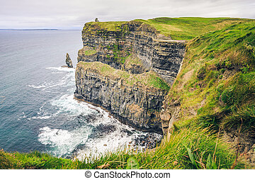 Cliffs of Moher - View of the impressive Cliffs of Moher