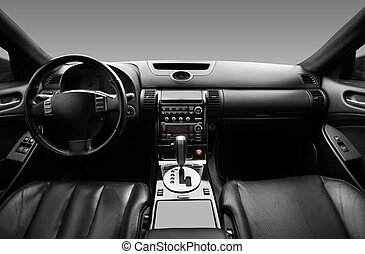 View of the interior of a modern automobile