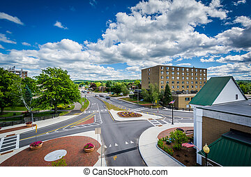 View of the intersection of Main Street and Beacon Street in...