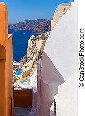 View of the island Santorini