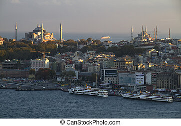 View of the Istanbul City