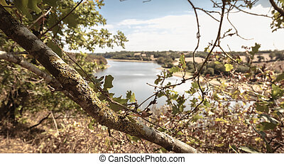 view of the Jaunay lake in Vendee France
