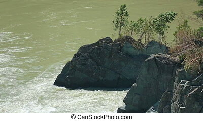 Katun river - View of the Katun river, Altai, Russia