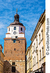 View of the Krakow Tower in Lublin - Poland