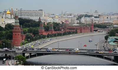 View of the Kremlin and River Moskva, Russia